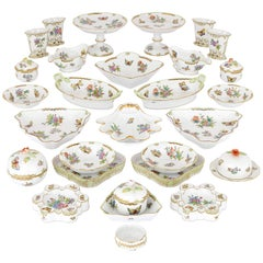 Floral Herend Porcelain Dinner Service
