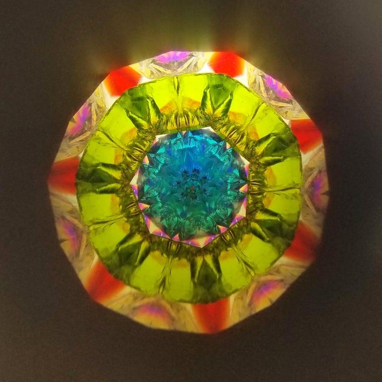 Women's or Men's Floral Long & Slim Kaleidoscope Necklace For Sale