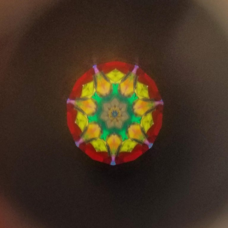 Floral Long & Slim Kaleidoscope Necklace For Sale 2
