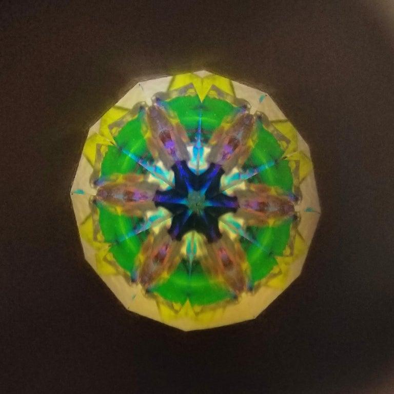 Floral Long & Slim Kaleidoscope Necklace For Sale 3