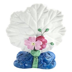 Floral Leaf Porcelain Menu Holder