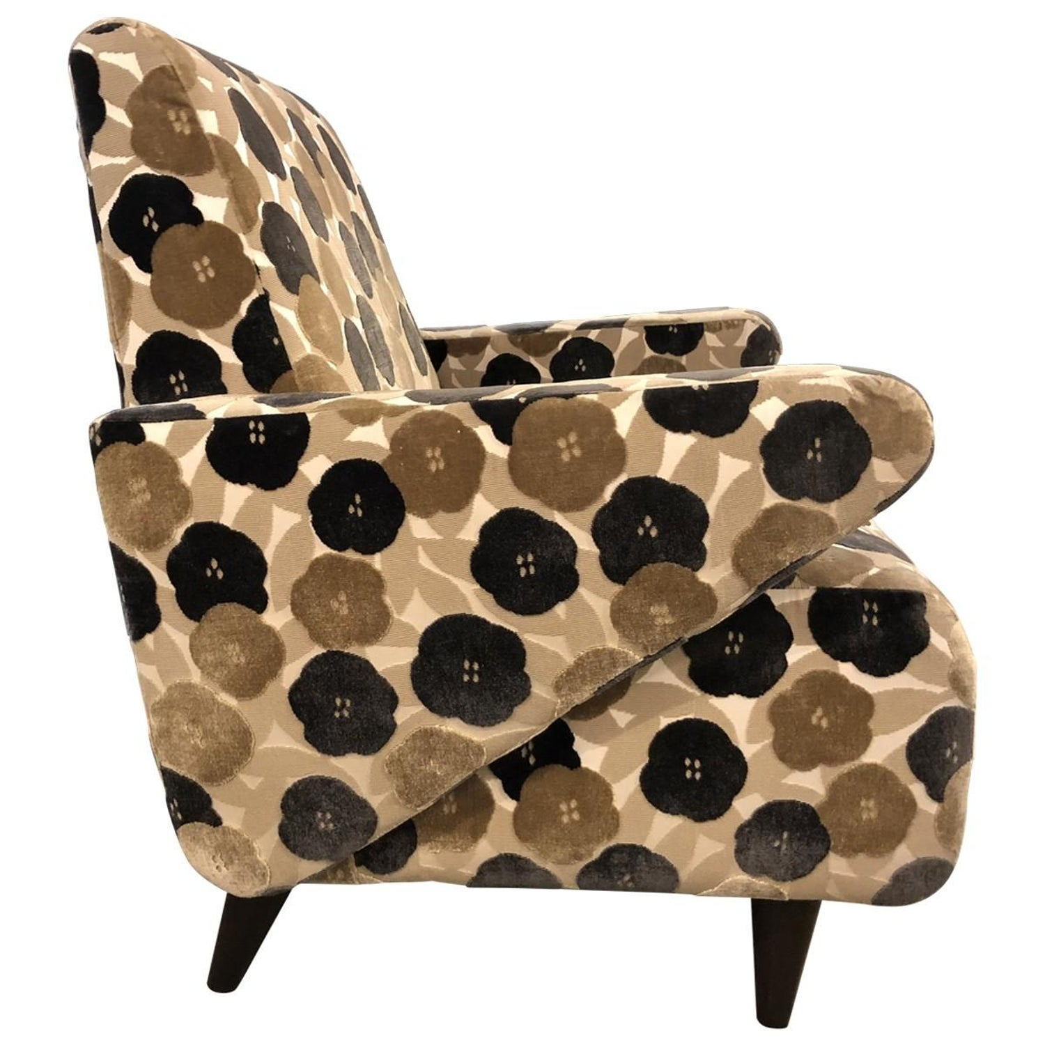 Brilliant Floral Lounge Chair Modern Midcentury Squirreltailoven Fun Painted Chair Ideas Images Squirreltailovenorg