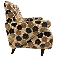 Floral Lounge Chair Modern Midcentury