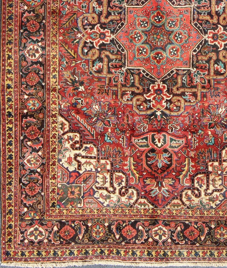 Persian Heriz Rug In Red