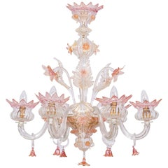Floral Murano Glass Chandelier, Italy, Contemporary