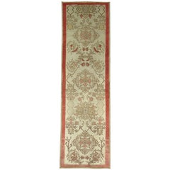 Floral Narrow Vintage Turkish Anatolian Runner