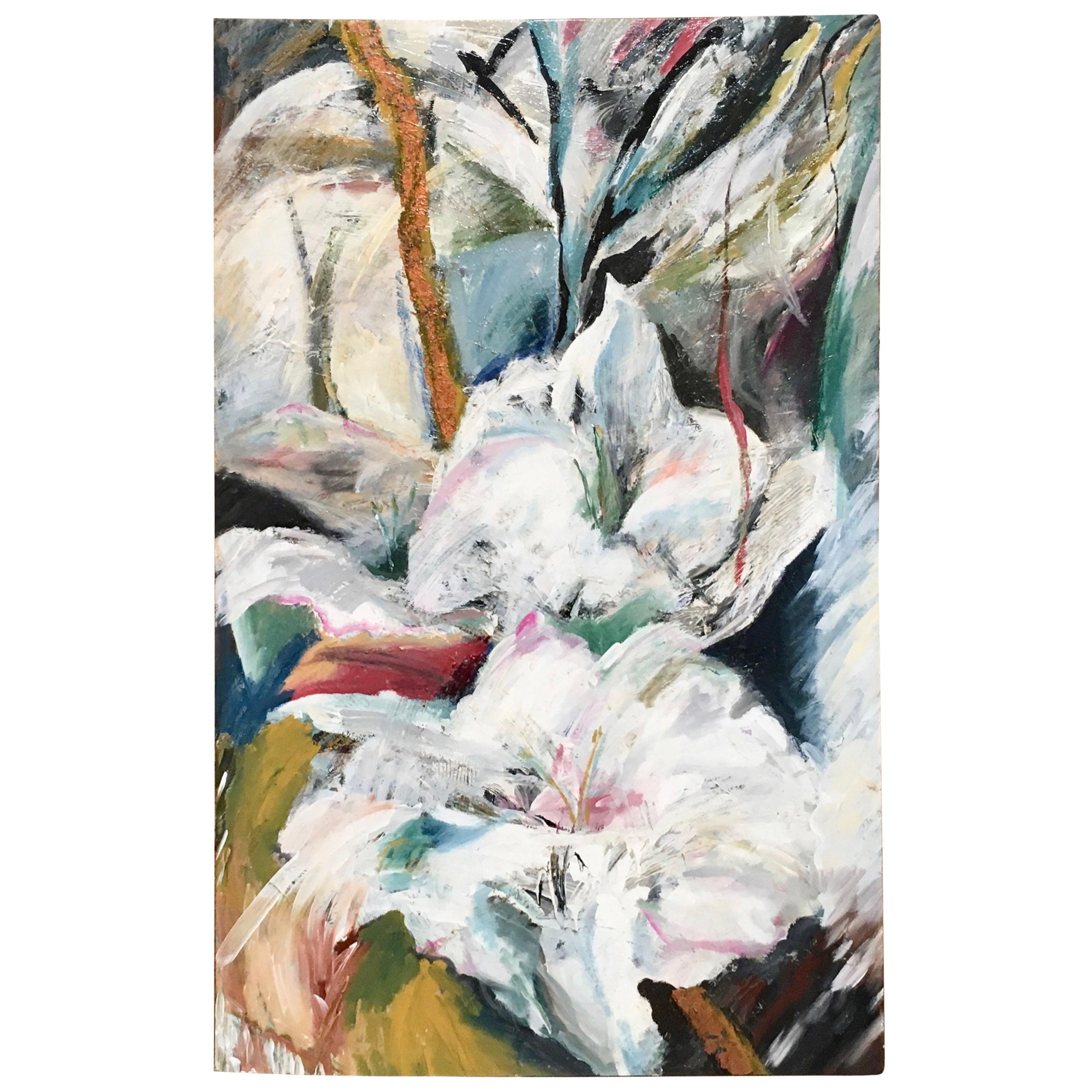 Floral Oil on Canvas Titled Blossom