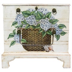 Floral Painted Blanket Box