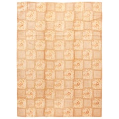 Floral Pattern Antique American Hooked Rug. Size: 8 ft 9 in x 11 ft 10 in