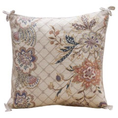 Floral Pattern Needlepoint Cushion Cover Hand knotted Pillow Case