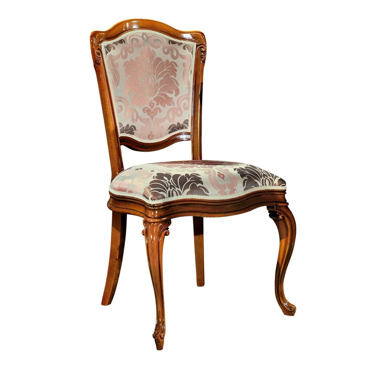 Floral Pink Dining Chair For Sale at 1stdibs