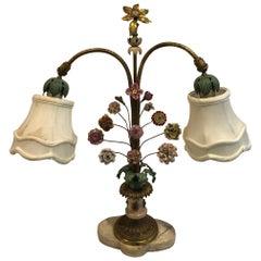 Floral Porcelain Table Lamp