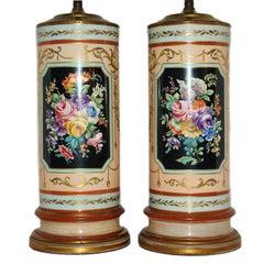 Floral Porcelain Table Lamps