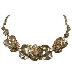 "Floral Rose ""Bouquet of Love"" Diamond Necklace"