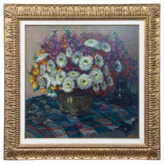 Floral Still Life by Frans Roofthooft, 'Belgian'