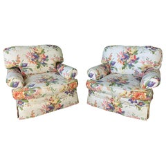 Floral Upholstered Club Chairs by Ralph Lauren, Set of Two