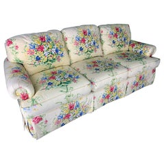 Floral Upholstered Sofa by Sherrill