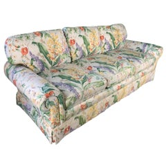 Floral Upholstered Sofas by Robb and Stucky