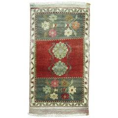 Floral Vintage Turkish Anatolian Rug