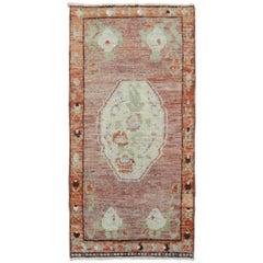 Floral Vintage Turkish Yastik Rug Mat