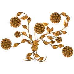 Floral Wall Light in Brass