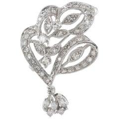 Floral White Gold Diamond Pendant