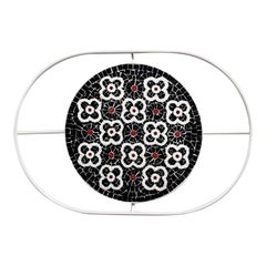 Flore Black Tray by Mosaici Ursula Corsi