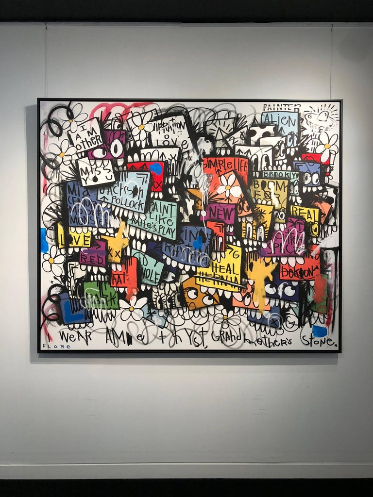 Downtown LA - Painting by Flore