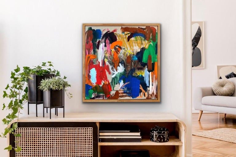 Elizabeth Street - Brown Abstract Painting by Flore
