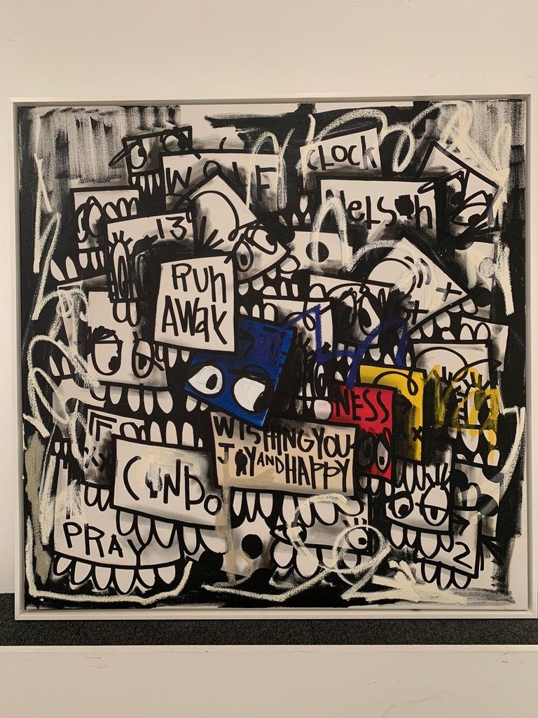 Artist:  Flore,  Title:  Run Away Date:  2017 Medium:  Acrylic on canvas Unframed Dimensions:  40
