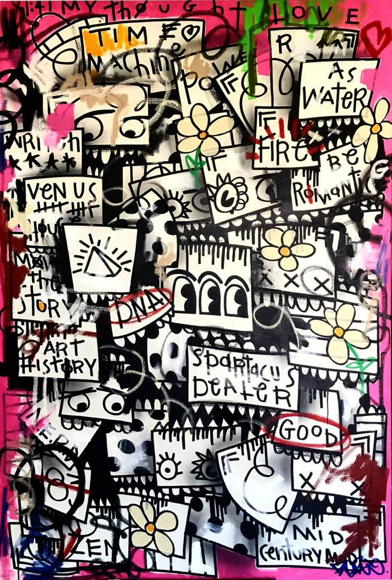 Flore Abstract Painting - Spartacus Dealer