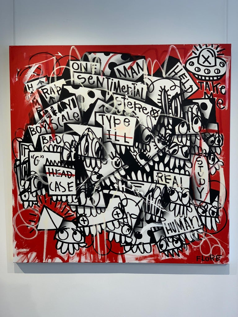 The Red One - Painting by Flore