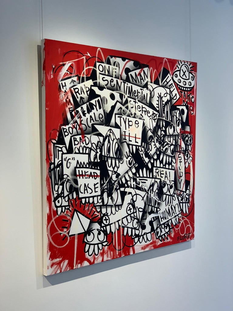 The Red One - Abstract Painting by Flore