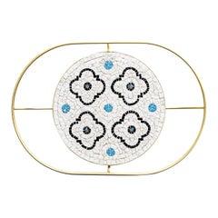 Flore White Tray by Mosaici Ursula Corsi