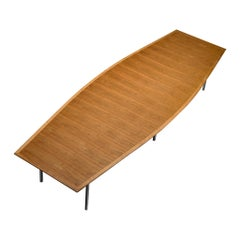 Florence Knoll Long Table with Boat Shaped Top