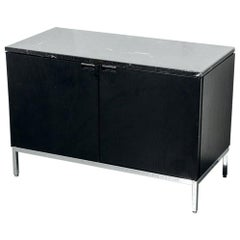 Florence Knoll Cabinet with Black Marble Top