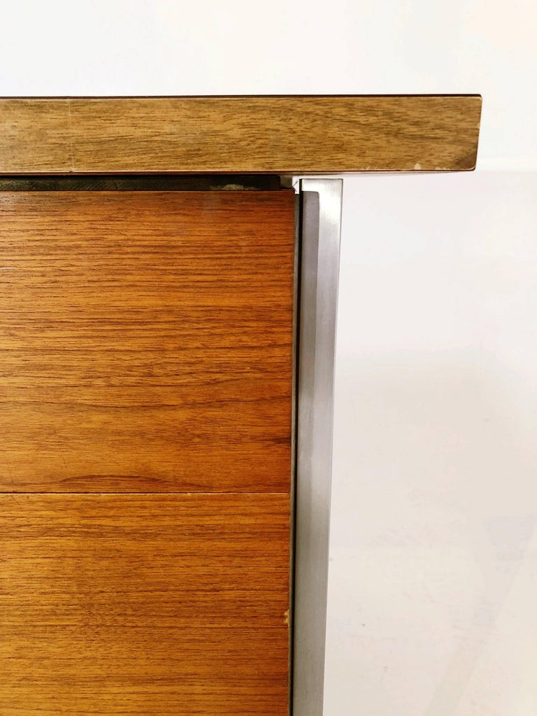 Florence Knoll Caned Executive Desk, circa 1960 For Sale 4