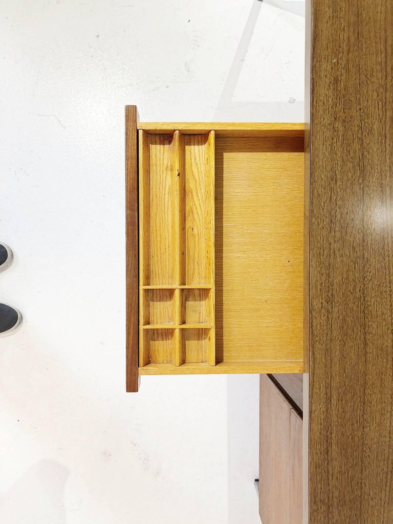Florence Knoll Caned Executive Desk, circa 1960 For Sale 3