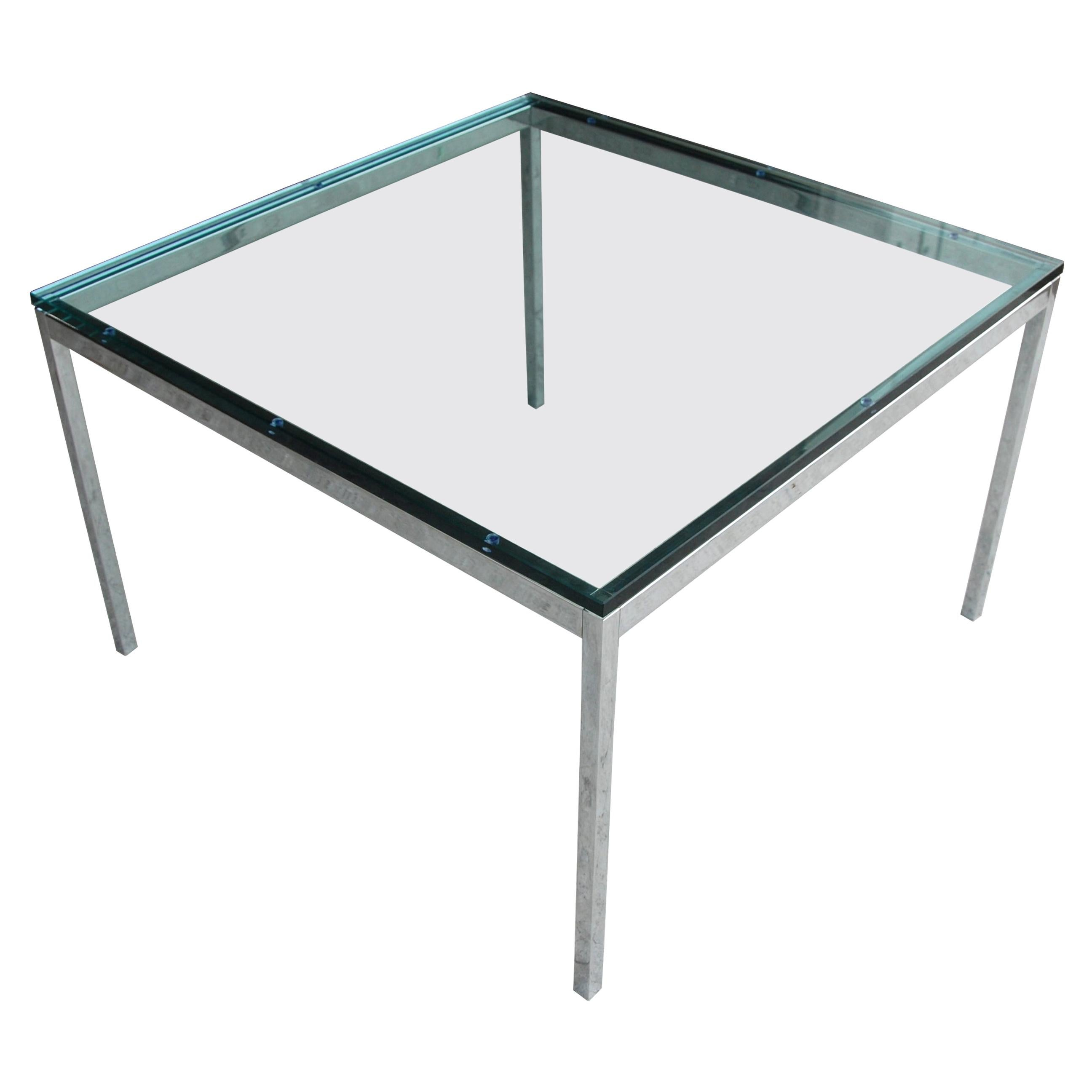 Florence Knoll Chrome Coffee Table