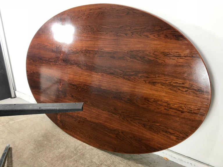 Florence Knoll Conference or Dining Table, Rosewood Top for Knoll For Sale 3