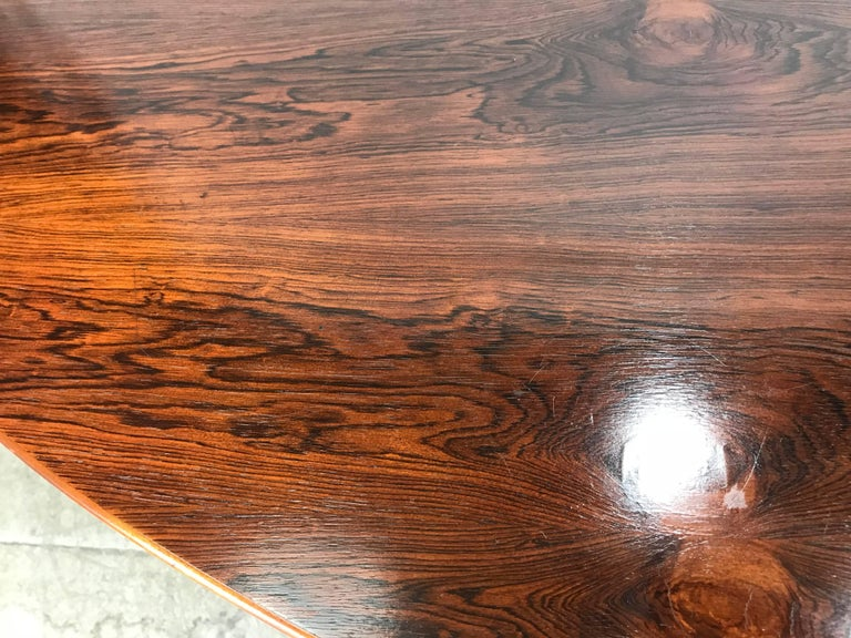American Florence Knoll Conference or Dining Table, Rosewood Top for Knoll For Sale