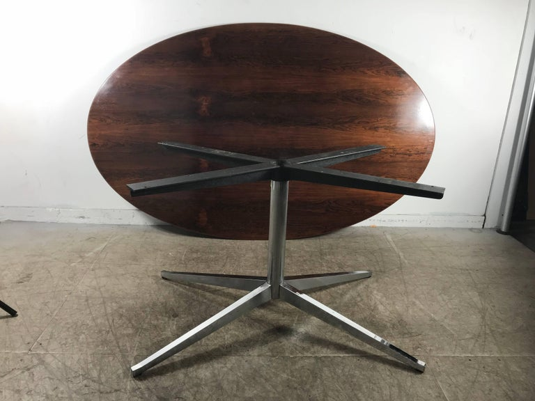Florence Knoll Conference or Dining Table, Rosewood Top for Knoll For Sale 1