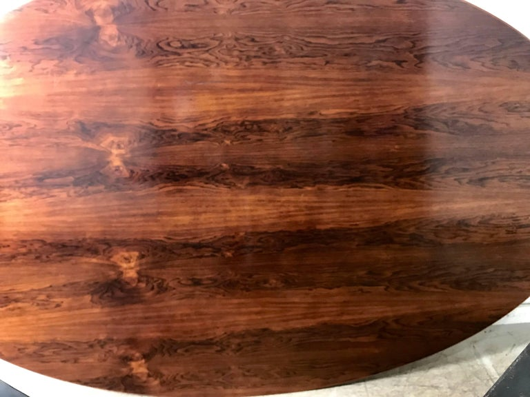 Florence Knoll Conference or Dining Table, Rosewood Top for Knoll For Sale 2