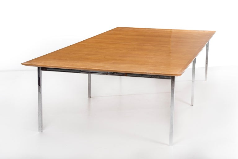 Mid-Century Modern Florence Knoll Conference Table or Dining Table For Sale