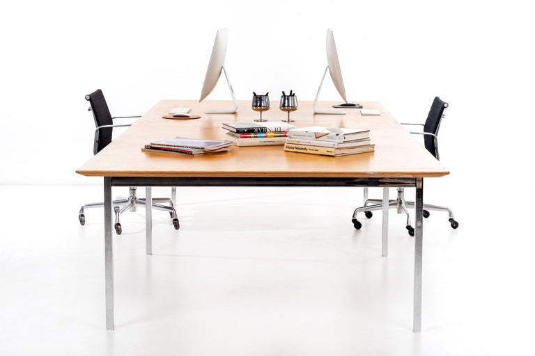 Mid-20th Century Florence Knoll Conference Table or Dining Table For Sale