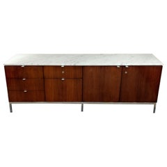 Florence Knoll Credenza in Rosewood, with Calacatta Marble Top, 1964
