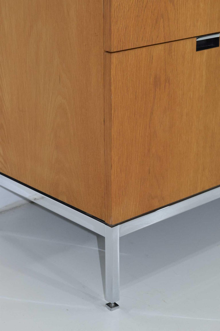 American Florence Knoll Credenza in White Oak and Calacutta Marble For Sale