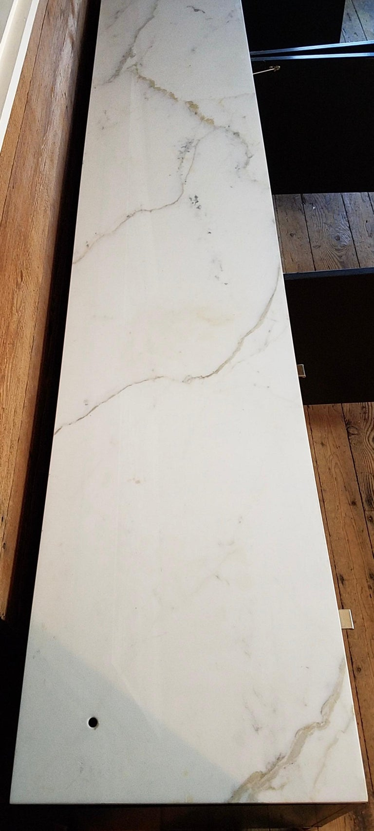 Florence Knoll Credenza / Sideboard Original Calacatta Marble Top 1961 For Sale 2