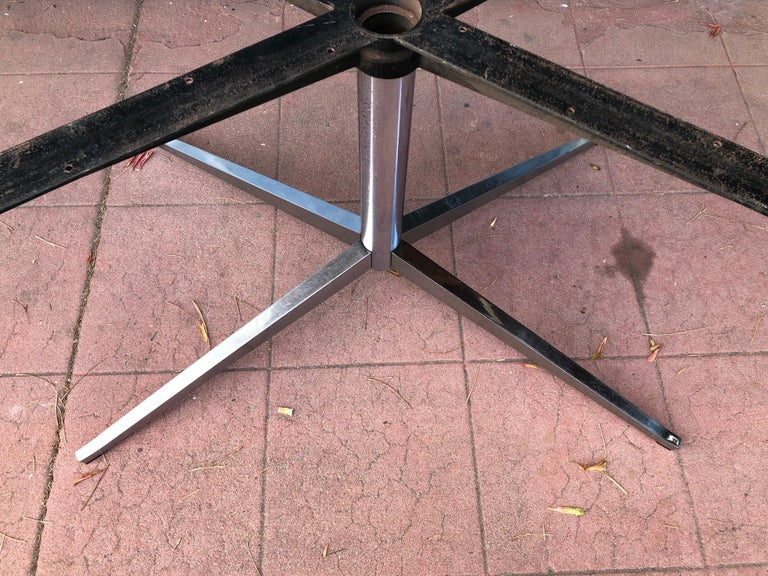 Florence Knoll Dining or Conference Desk Table Chrome Star Base X Large 1