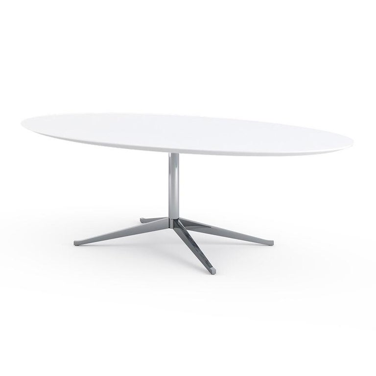 Florence Knoll Dining or Conference Desk Table Chrome Star Base X Large 3
